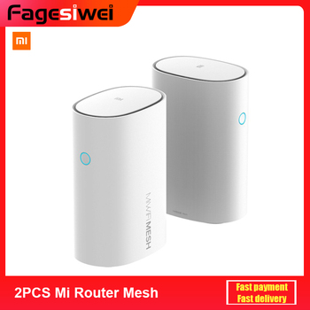 2PCS Xiaomi Mi Router Mesh 2.4 5GHz WiFi Router High Speed 4 Core CPU 256MB Gigabit Power 4 Signal Amplifiers for Smart Home