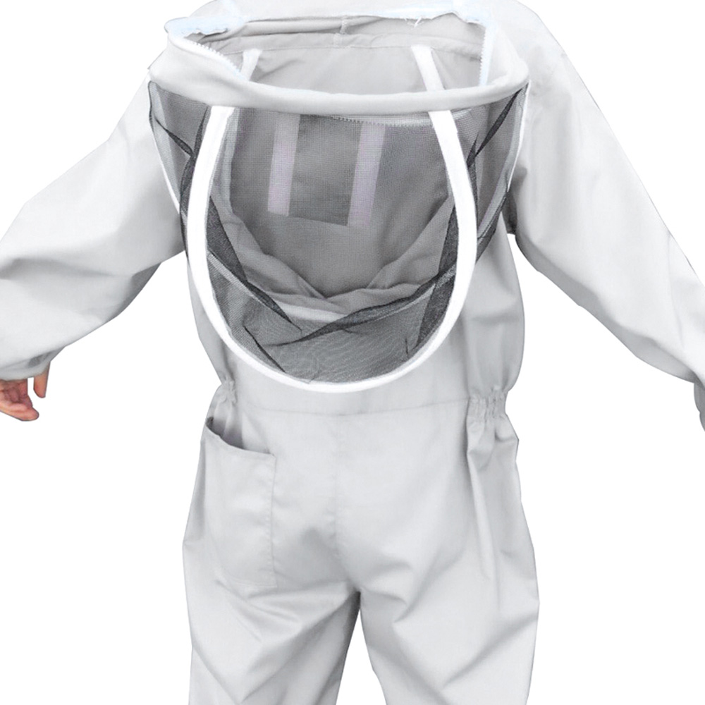 Professional Full Body Beekeeping Clothing Anti-Bee Safty Veil Hat Bee Protection Cotton Twill Fabric Beekeeping Suit