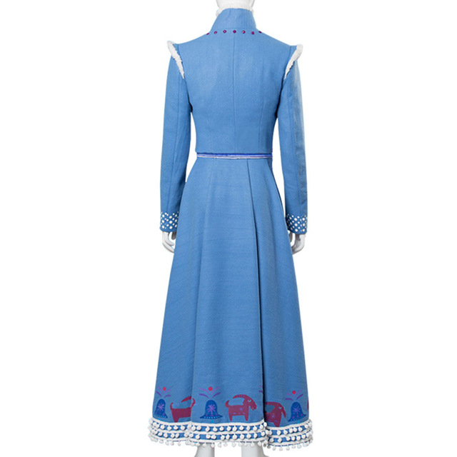 Frozen 2 Princess Anna Cosplay Costume Halloween Dress