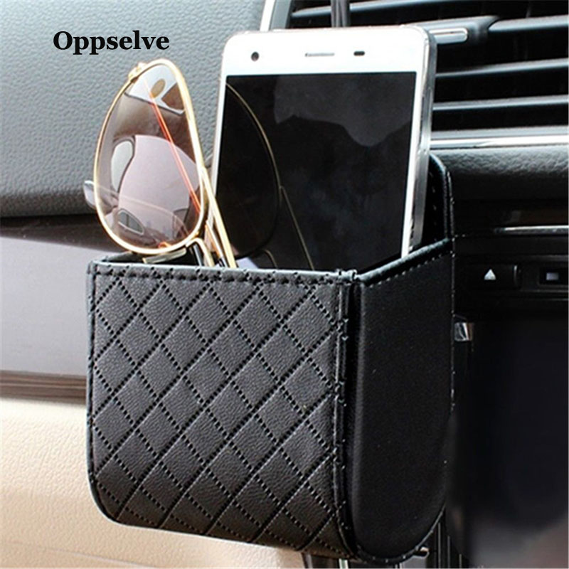 Car Holder Storage Bag For Phone in Car Air Vent Clip Mount No Magnetic Mobile Phone Holder Cell Stand Support For iPhone X 7 XS in Phone Holders Stands from Cellphones Telecommunications