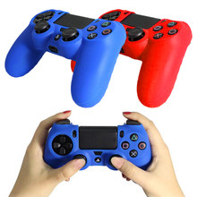 ViGRAND Free shipping 1pcs Skin Cover Silicone Case Sleeve Protective Skin For PS4 Double shock 8 Controller+2 pcs Thumb pad(China)