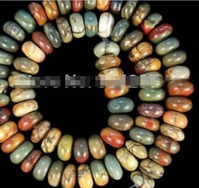 "DYY 1104+++Natural 5X8MM Multi-color Picasso Jasper Gems loose beads 15""(China)"