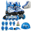 Pu Leather Children Wheels Skate Shoes Inline Skating Shoes Speedroller Skates Sneakers With Protective Gear For Boys Girl Sport