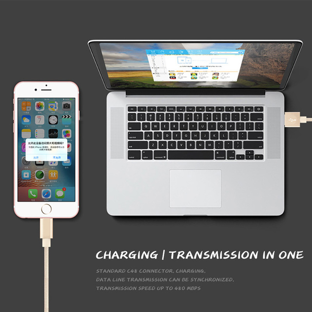 Nylon 25cm 1m 2m 3m Data USB Charger Cable For iPhone 6s 6 s 7