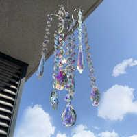 H & D Kronleuchter Windspiele AB Beschichtung Kristall Prismen Hängen Suncatcher Regenbogen Maker Fenster Vorhänge Anhänger Wohnkultur Geschenke