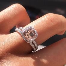 Brown stone cz Wedding Engagement promise Rings  for Women gold Wholesale Jewelry Finger solid design wholesale lots bulk R5500