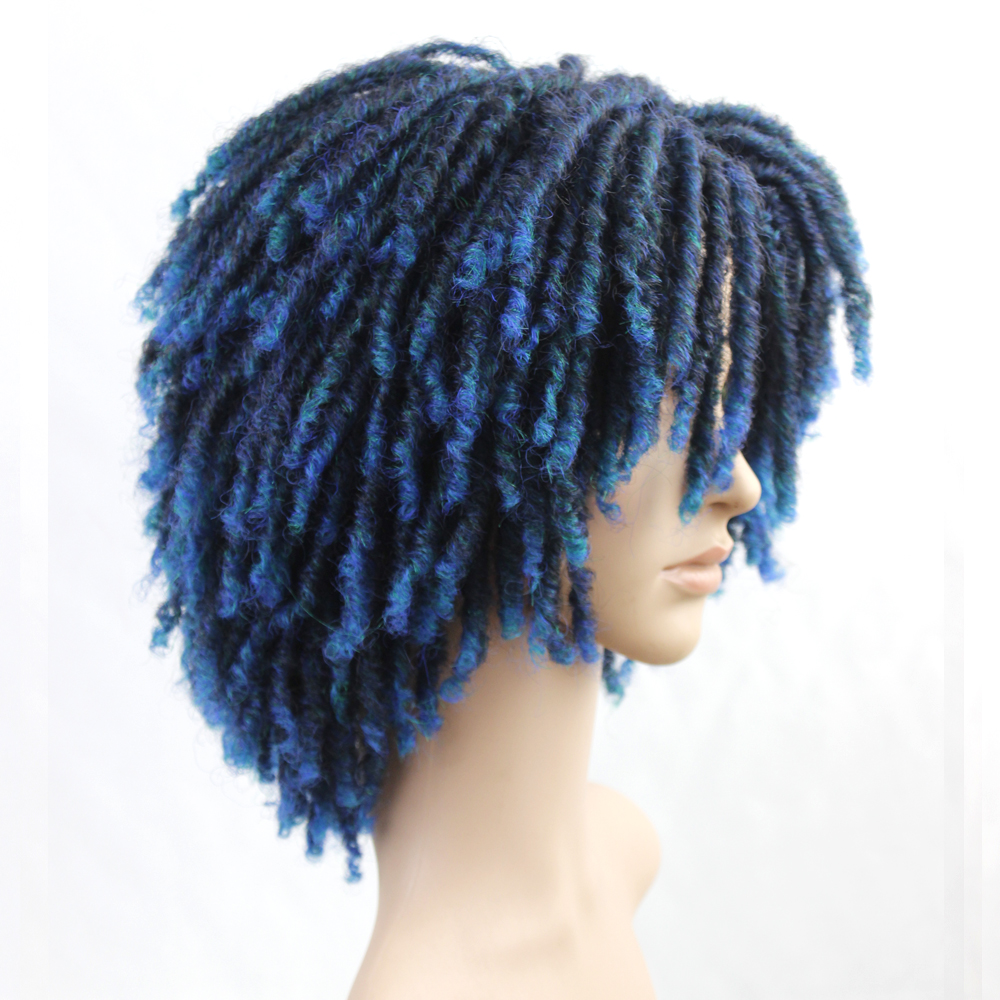 bouncy encaracolado perucas sintéticas para preto feminino