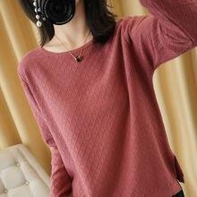 Женская зимняя вязаная свитера пуловеры sparsil с круглым вырезом