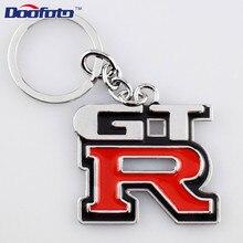 Doofoto Keychain 3D Metal Car Styling Keyring For Nissan GTR R35 J10 J11 X Trail T32