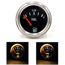 "2"" 52mm 12V Mechanical Car Fuel Level Gauge Car Meter E-1/2-F Fuel Level indicat U1JF"