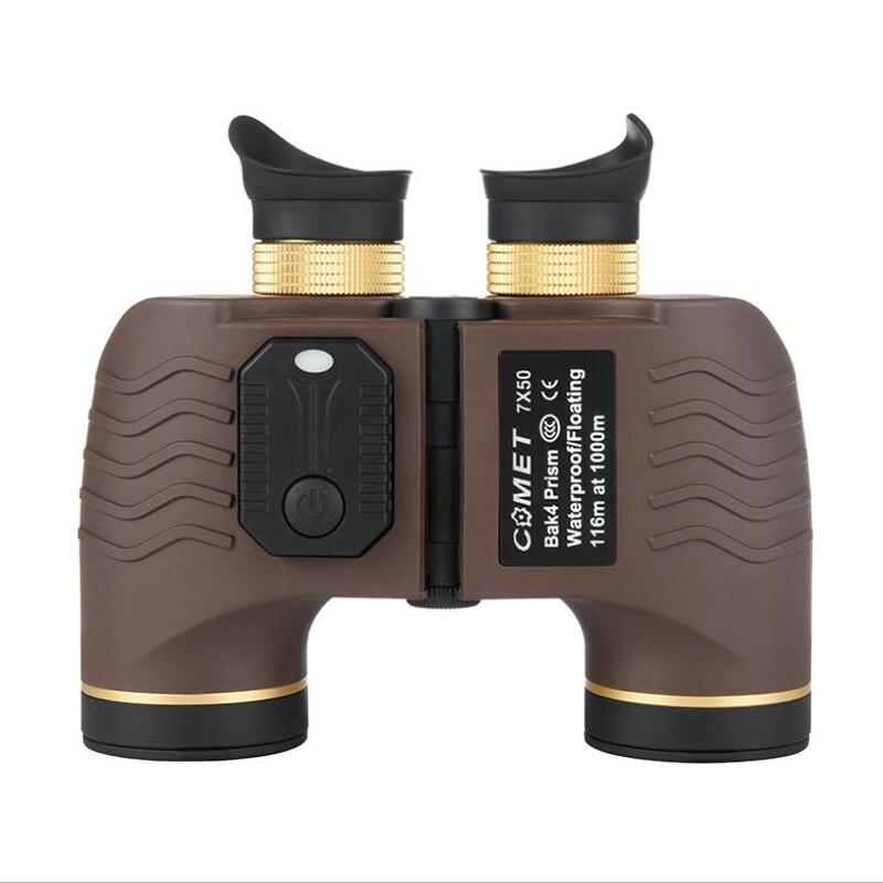 High Power Militär Fernglas 7X50 HD Wasserdichte Hohe Qualität Entfernungsmesser Kompass Fernglas LLL Nachtsicht Für Jagd Camp