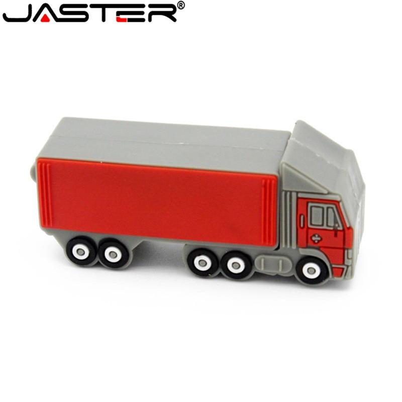 JASTER Trailer Pendrive Flash Drive 4gb 16gb 32gb 64gb Usb Flash Big Truck Model Flash Card USB2.0 Usb Stick Personalized Gift