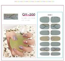 14 наконечников/лист всесезонные наклейки для ногтей и искусственных
