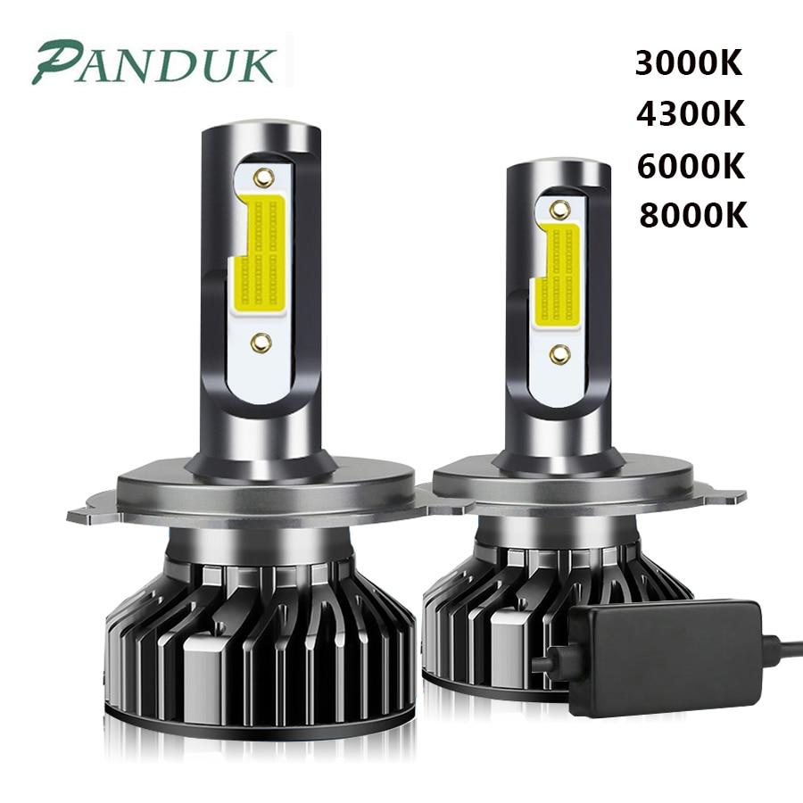 PANDUK светодиодный 3000K 4300K 6000K 8000K 12000LM 12V 9005 HB3 H1 H4 светодиодный головной светильник H3 H7 светодиодный H11 9006 HB4 Canbus светодиодные лампочки Светодиод...