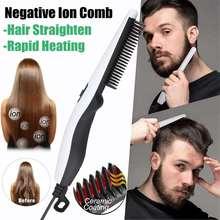Multifunctional Hair Comb Brush Beard Straightener