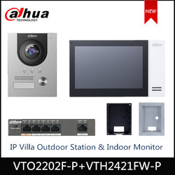 Dahua VTO2202F-P VTH2421FW-P IP Villa Outdoor Stazione di Monitor Dell'interno IP Kit campanello supporto POE video campanello accessorio