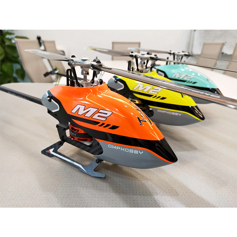 Hot Sale OMPHOBBY M2 6CH 3D Flybarless Dual Brushless Motor Direct-Drive RC Helicopter RTF Mode 1/Mode 2 Standard Combo RC Toys