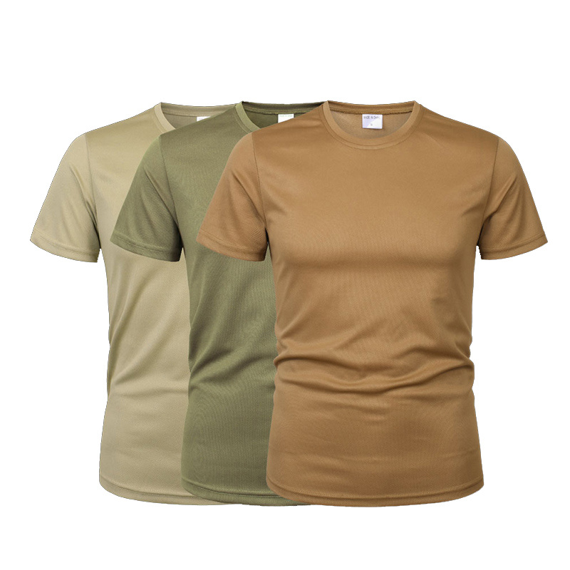 Men Camouflage Tactical T Shirt Army Military ShortSleeve O-neck Quick-Drying Gym T Shirts Casual Oversized 4XL