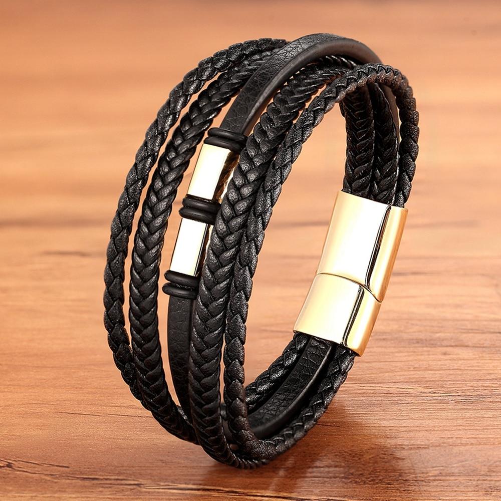 Women leather bracelet-buttons bracelet-Multilayer bracelet-unique style bracelet-wide and heavy bracelet-18 lines of bracelet