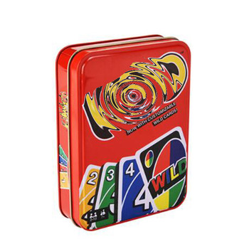 Mattel Games UNO: Classic (Tin Box) Thickened Widened Playing Card Camily Party Entertainment Table Game Casual Party Board Game