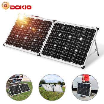 Dokio 100W (2Pcs x 50W) Foldable Solar Panel China pannello solare usb Controller Solar Battery Cell/Module/System Charger 1