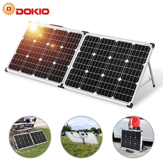 Dokio 100W (2Pcs x 50W) מתקפל שמש פנל סין pannello solare usb בקר סוללה סולארית/מודול/מערכת מטען