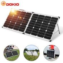 Dokio 100w (2 pces x 50w) painel solar dobrável china pannello solare controlador usb célula de bateria solar/módulo/sistema carregador