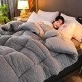 CF2 толстые теплые одеяла одиночные двойные зимние одеяла Полный Твин King queen размер очень теплый 100% ягненок одеяло кашемировое одеяла