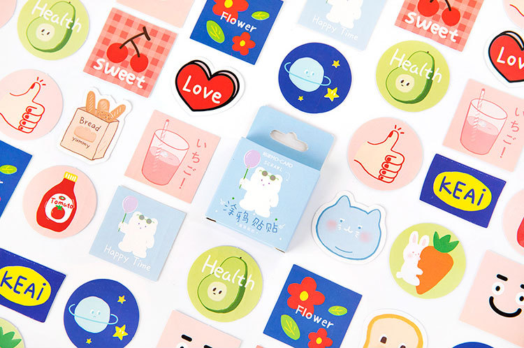 Happy Painting Diy Decorative Sticker(1pack=45pieces)