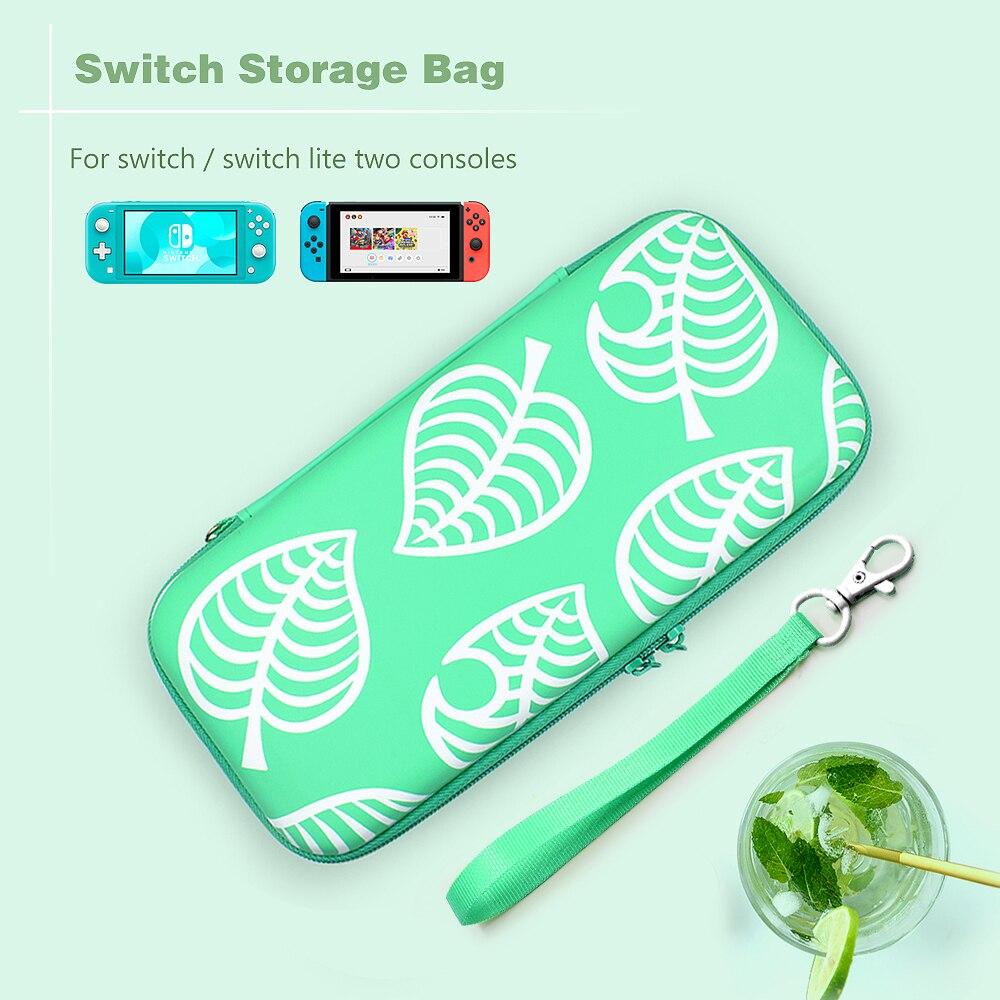 Bolsa de transporte para almacenamiento portátil, caja de consola de viaje, funda de accesorios de gran capacidad para Nintendo Switch NS, bolsa de mano Lite