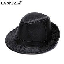 Chapéus dos fedoras dos homens de couro genuíno, chapéu trilby clássico de feltro da primavera