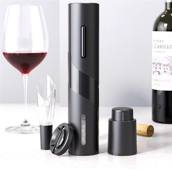 Automatyczny otwieracz do butelek do czerwonego wina aluminiowym nożem elektryczny otwieracz do słoików czerwonego wina kuchnia Cork Out akcesoria narzędziowe otwieracze do butelek tanie i dobre opinie Anpro CN (pochodzenie) ADQ0237 Czerwone wino Ekologiczne stop aluminium