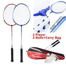 1 conjunto de raquetes profissionais para badminton, 2 peças, kit com bolsa para carregar, para áreas internas e externas, jogo casual acessório esportivo