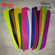 New  100pcs Multicolor Real Turkey Feather Full Length Arrow Cut Fletching Hunting Shooting Diy Accessories