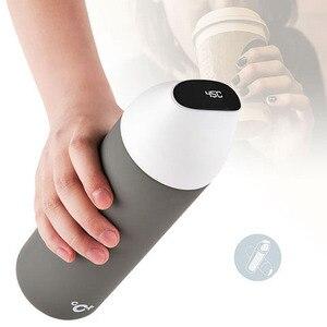 Image 4 - Youpin CC + akıllı vakum yalıtım şişesi seyahat kupa öpücük öpücük balık vakum termos OLED sıcaklık ekran fincan 3 filtreler