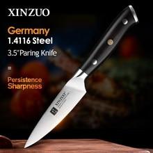 Xinzuo 3.5 japanese japanese estilo japonês faca utilitário ergonômico ebony lidar com alemão 1.4116 aço inoxidável peeling frutas cozinha chef faca