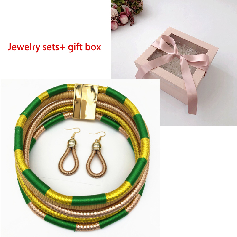 gold set and box