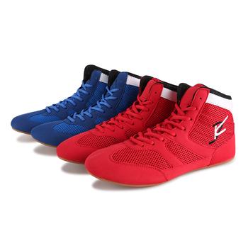 2020 mężczyźni buty bokserskie buty zapaśnicze gumowa podeszwa oddychające męskie Ultra lekkie buty sportowe do wrestlingu Plus rozmiar 35-46 tanie i dobre opinie Średnie (b m) RUBBER Profesjonalne Dla dorosłych Spring2019 Pasuje prawda na wymiar weź swój normalny rozmiar Lace-up