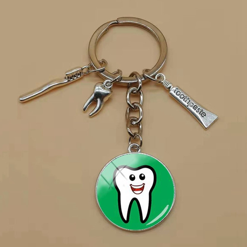 Dental Assistant who gift silver dentist cabochon pin