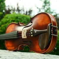 V02 beginner Viool 4/4 Maple Violino 3/4 ancient pad high quality handmade violin violin case rosin