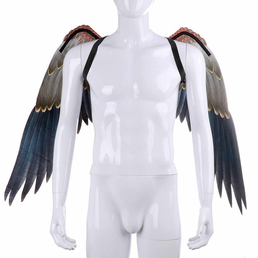 ฮาโลวีนชุดคอสเพลย์สำหรับผู้ใหญ่ 3D Angel ปีกยุคกลาง Masquerade Party Play ชุดเครื่องแต่งกายอุปกรณ์เสริม Drop shipping c