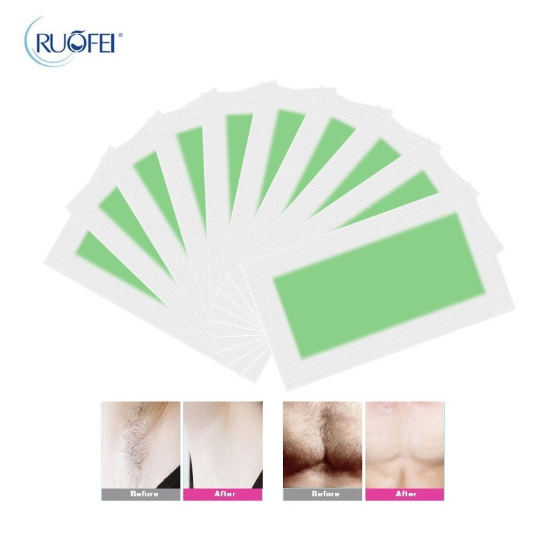 10pcs=5sheets New Removal Depilatory Nonwoven Epilator Wax Strip Paper Pad Patch Waxing For Face / Legs / Bikini