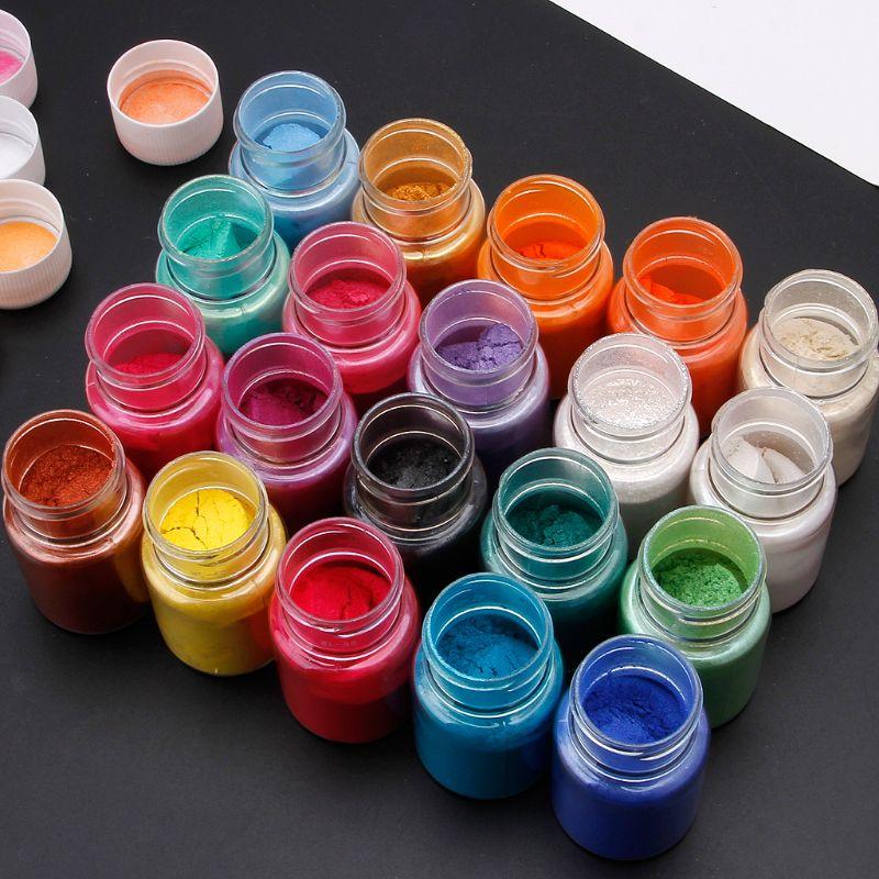 20 Colors Mica Powder Epoxy Resin Dye Pearl Pigment Natural Mica Mineral Powder 5