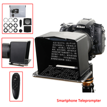 Teleprompter için Xiaomi iPhone Samsung Huawei Telefonu için Sony Canon Nikon DSLR Kamera Video Röportaj Teleprompter Smartphone