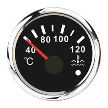 Red Backlight Water Temperature Gauge 52mm For Car Boat Auto Motorcycles 40-120℃ Water Temp Meter Indicator 12-24V