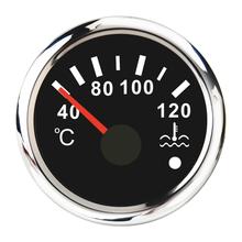 Rot Hintergrundbeleuchtung Wasser Temperatur Gauge 52mm Für Auto Boot Auto Motorräder 40 120 ℃ Wasser Temp Meter Anzeige 12 24V