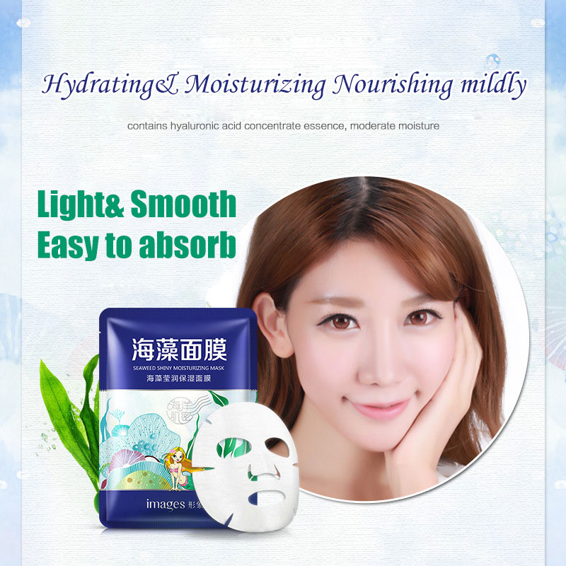 IMAGES Algae Moisturizing Facial Mask Water Tender Face Seaweed Mask Face Masks Anti-Aging Massage Hydrating Skin Care