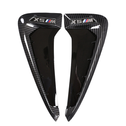 Kit de diseño de coche para BMW Xdrive emblema X5 F15 X5M F85 2014-2018 alas de tiburón lateral guardabarros rejilla de rejilla decoración 3D pegatinas