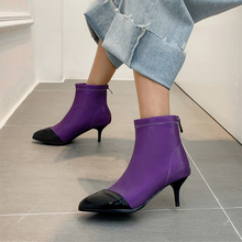 Plus Size 34-48 Spring Autumn Thin High Heels Shoes Elegant Stiletto Ladies Pumps Sock Boots Ankle Boots Women Boots Pointed Toe shoes 3 inch stiletto pointed toe high heels plus size 2017 spring fashion women pumps 10 42 4 34 special 33 black mesh