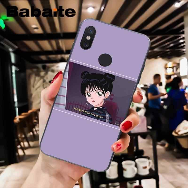 Babaite Эстетическая аниме красивая девушка в морском стиле глаза ТПУ чехол для телефона для xiaomi6 MIX2 note3 redmiK20 7 xiaomi8 SE redminote4 note5 5A